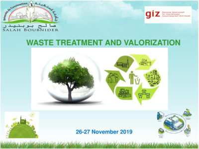 International Conference on Waste Treatment and Valorization