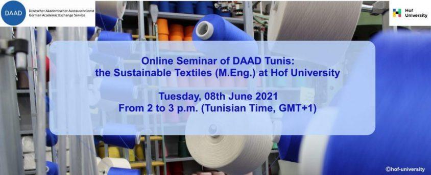 Online Seminar: Sustainable Textiles (M.Eng.) at Hof University: Innovative, hands-on, international