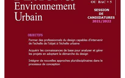 Appel à candidature pour le master professionnel Design et EU pour l'année universitaire 2021-2022.